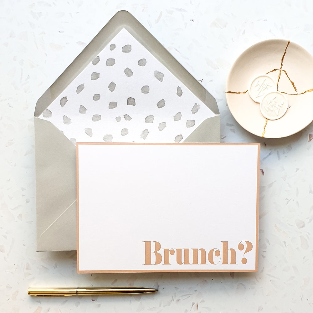 Personalised Brunch Notecard Set