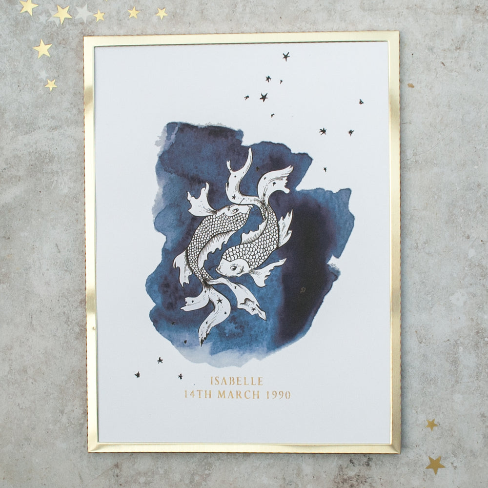 Zodiac Constellation Personalised Print