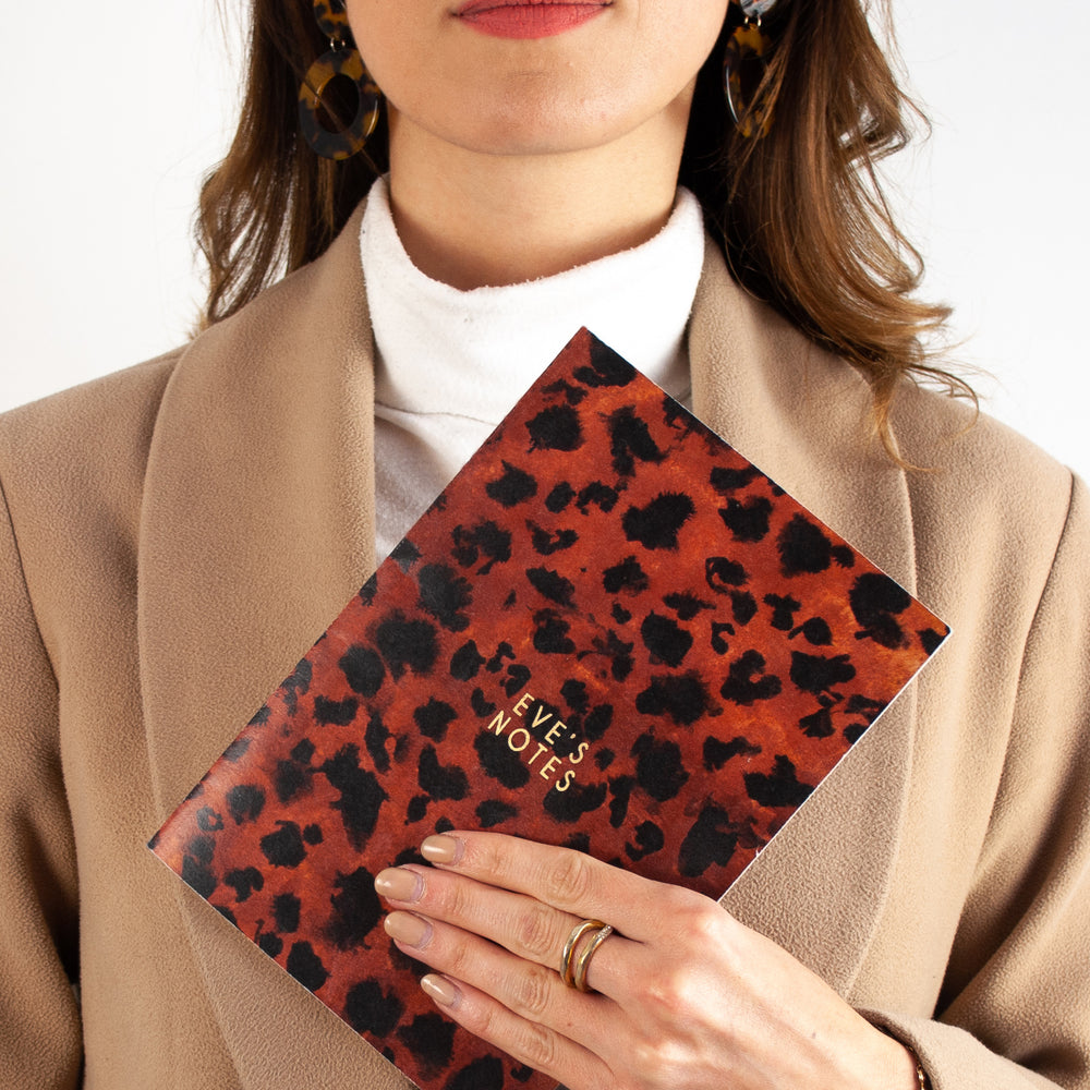 Leopard Print Personalised Name Notebook