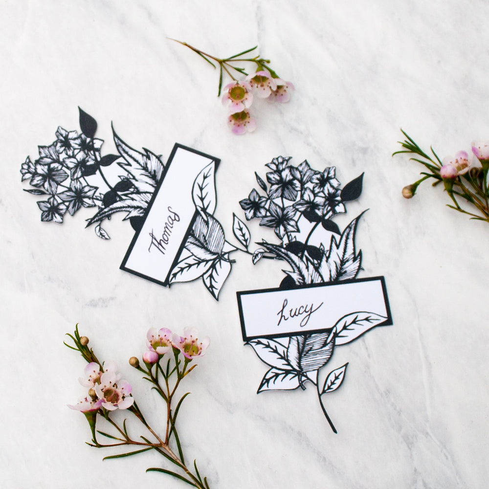 Mother's Day Botanical Place Card