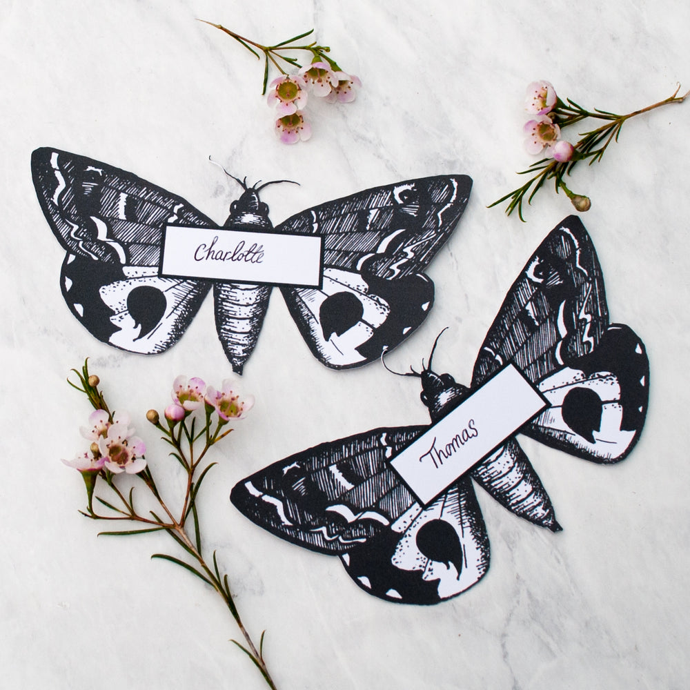Moth Place Cards