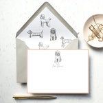 Personalised Labradoodle Dog Notecard Set
