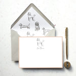 Personalised Poodle Dog Notecard Set