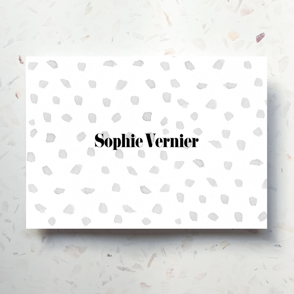 Personalised Name Polka Dot Notecard Set