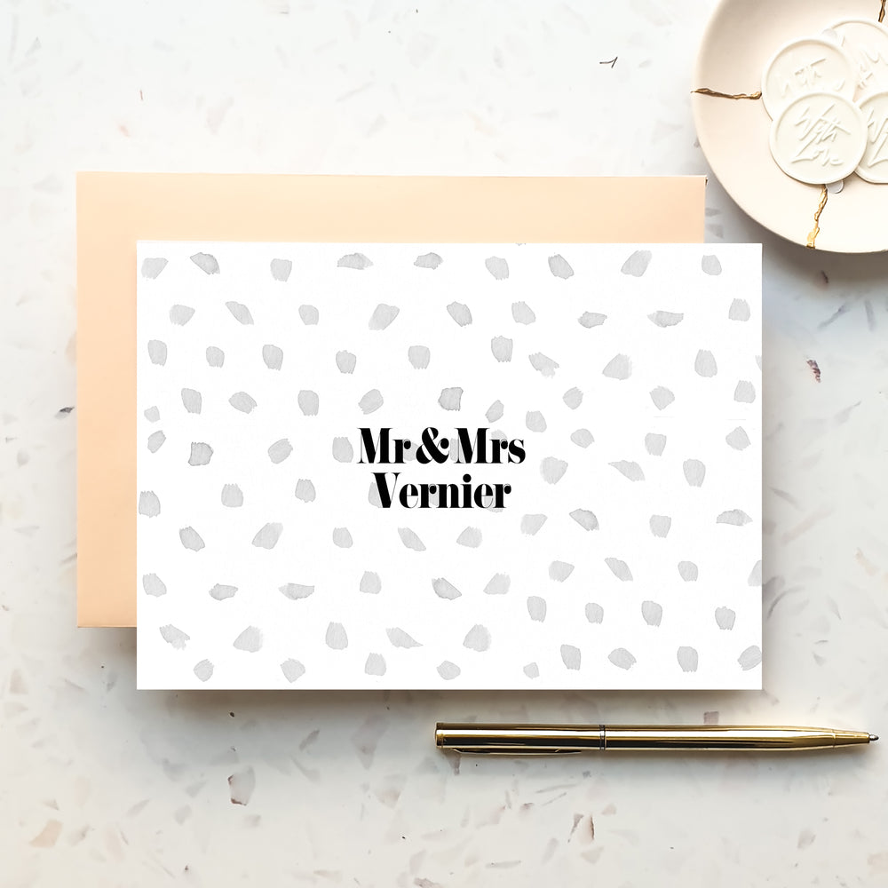Mr & Mrs Polka Dot Notecard Set
