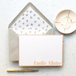 Personalised Name Pink Notecard Set
