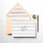 Personalised Name Stripe Notecard Set