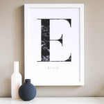 Personalised Initial & Name Art Print