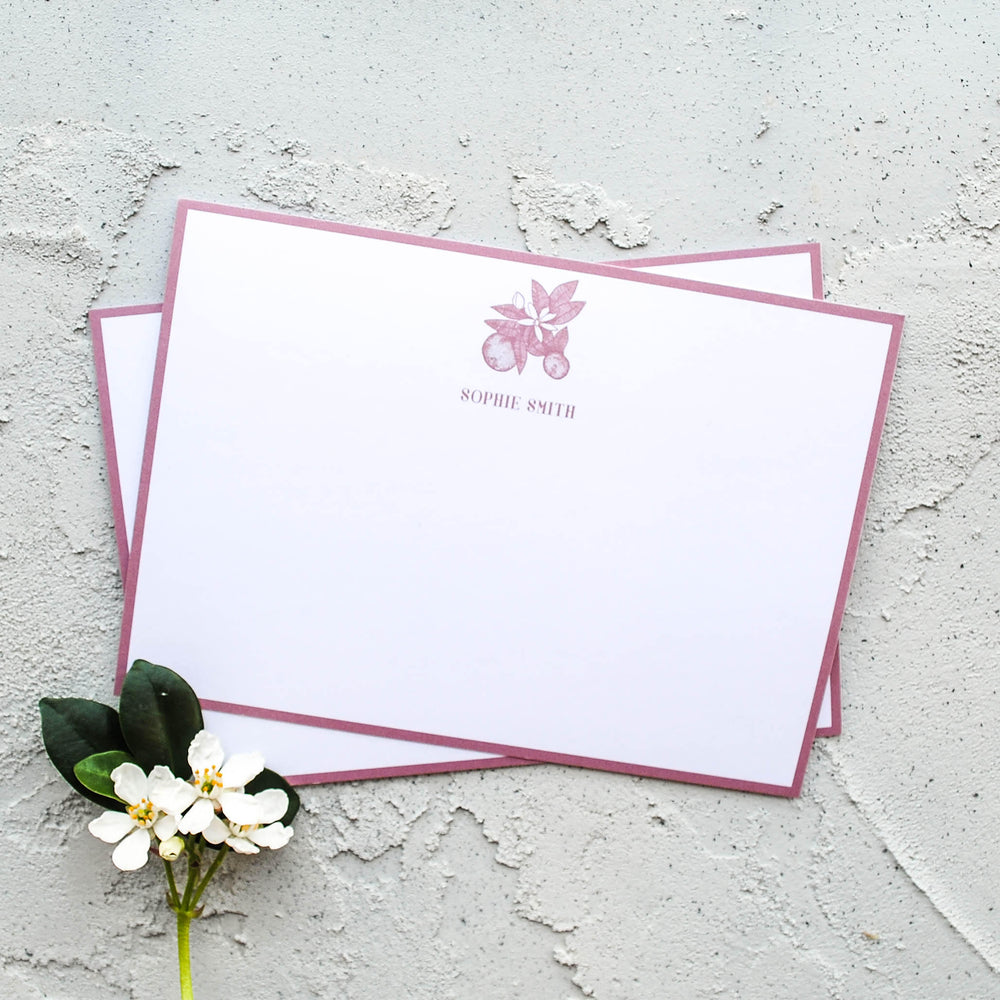 Orange Blossom Personalised Name Postcard Set