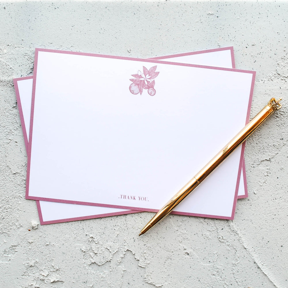 Orange Blossom Thank You Stationery Set
