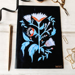 Folk Printed Initial Personalised Notebook