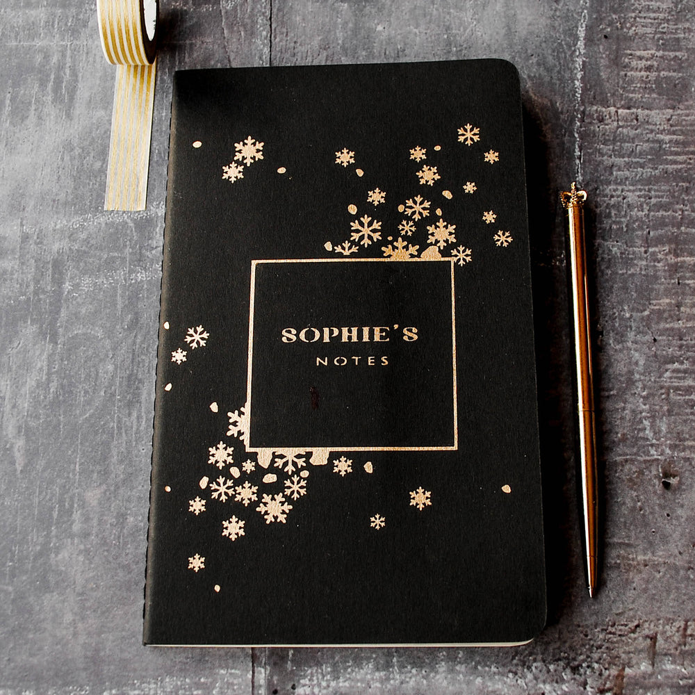Luxury Snowflake Personalised Notebook