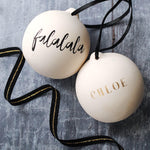 Fa La La La Personalised Christmas Bauble
