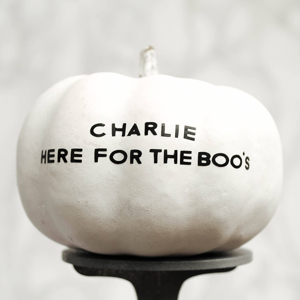 Personalised Quote Halloween Pumpkin Sticker