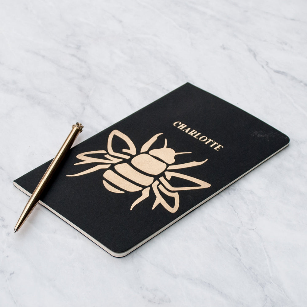 Luxury Bumblebee Personalised Notebook