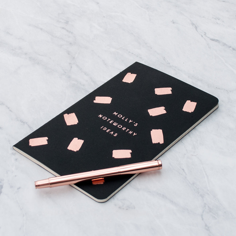 Luxury Copper Personalised Notebook