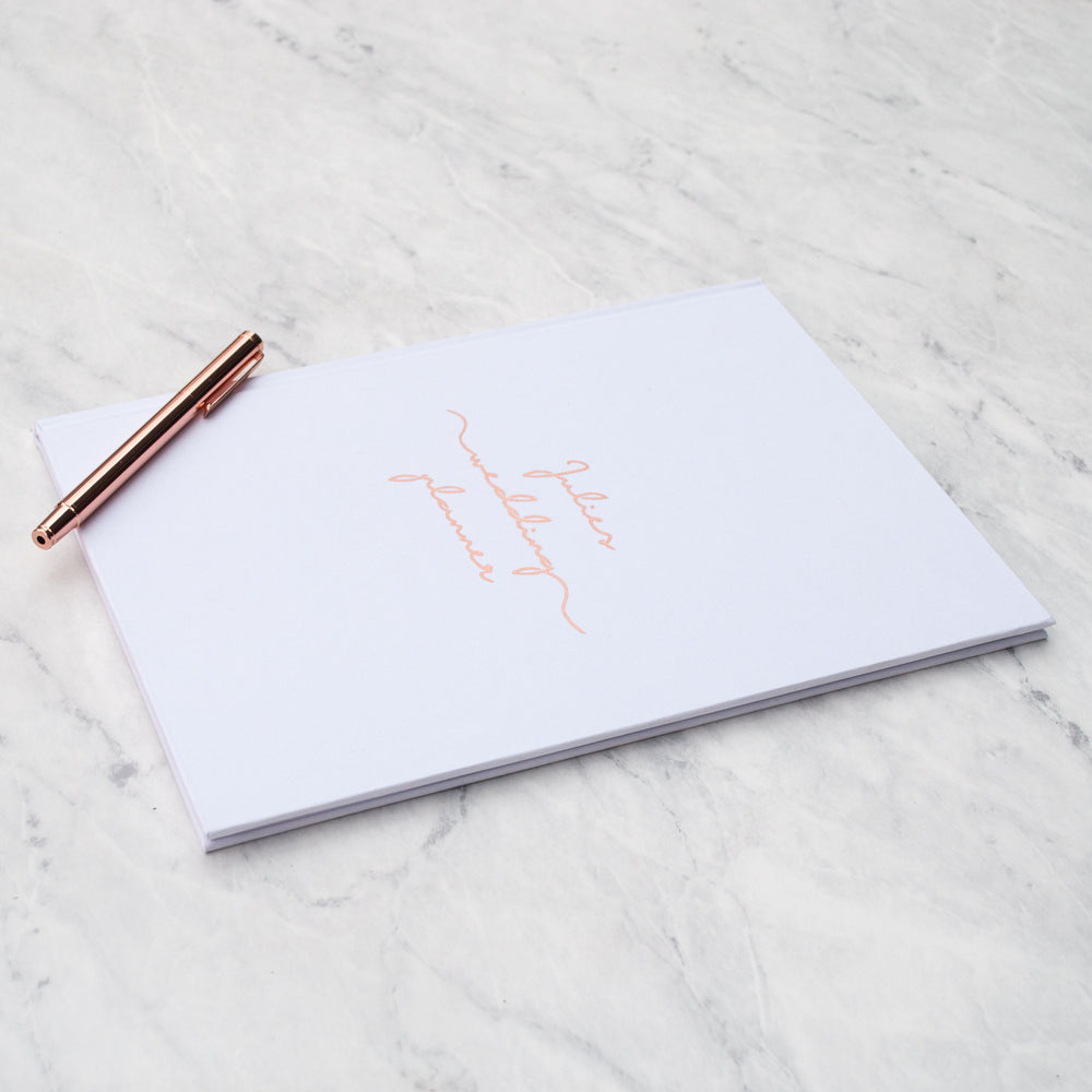 Personalised Copper Wedding Planner