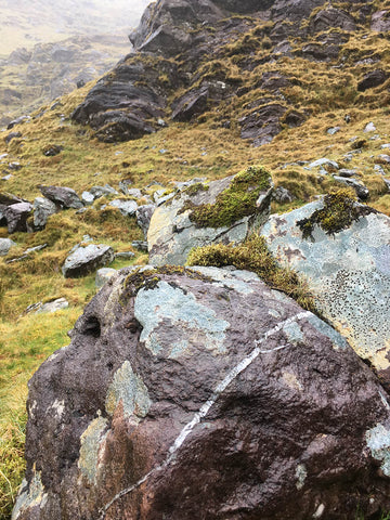 View from the Devil's Ladder in the MacGillycuddys Reeks in Kerry