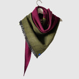 Large Silky Dark Twill Triangle Scarves