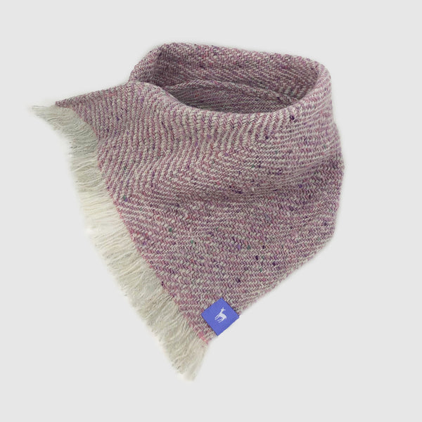Small Fleck Light Twill Triangle Scarves