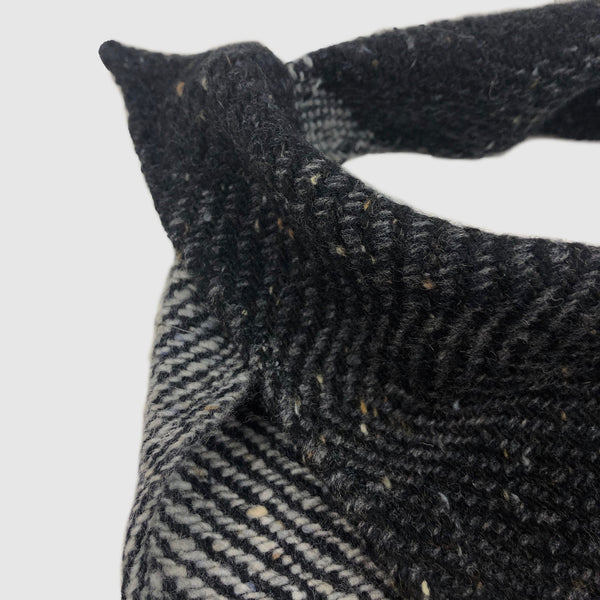 Small Fleck Dark Twill Triangle Scarves