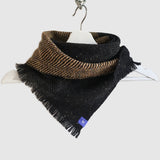 Medium Fleck Dark Twill Triangle Scarves