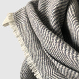 Large Pure Merino Lambswool Twill Triangle Scarves