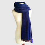 Large Fleck Plain Weave Shawl Scarves
