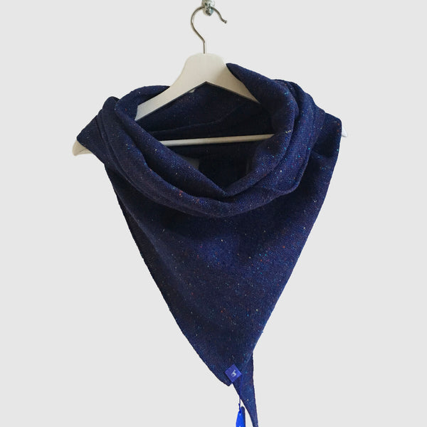 Large Fleck Plain Weave Triangle Scarves