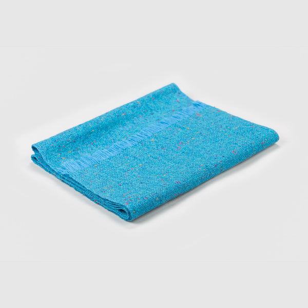 Regular Fleck Plain Weave Scarves Blue Range