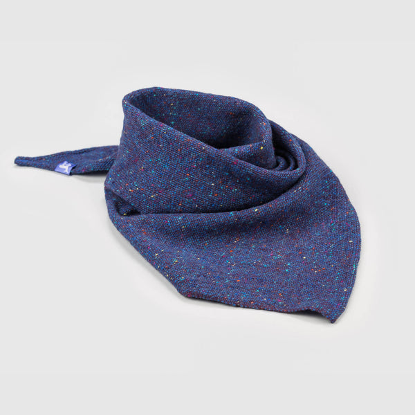 Blue Fleck Medium Triangle Scarf Shawl