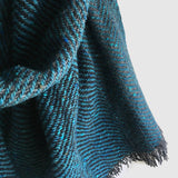 Large Fleck Dark Twill Triangle Scarves