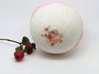 Milk & Oatmeal Bath Bombs scented with Rose and Patchouli
