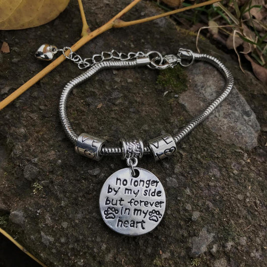 name personalized loss charm bracelet pinterest memorial remembrance jewelry cat bangle pet death pin