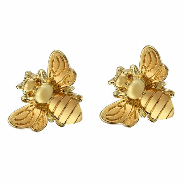 Bee Chic Earrings Silver & Gold