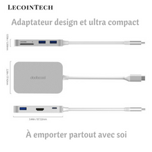 Adaptateurs Premium USB-C 7 en 1 (USB 3.0 - SD - Micro SD - Port HD - Type C)