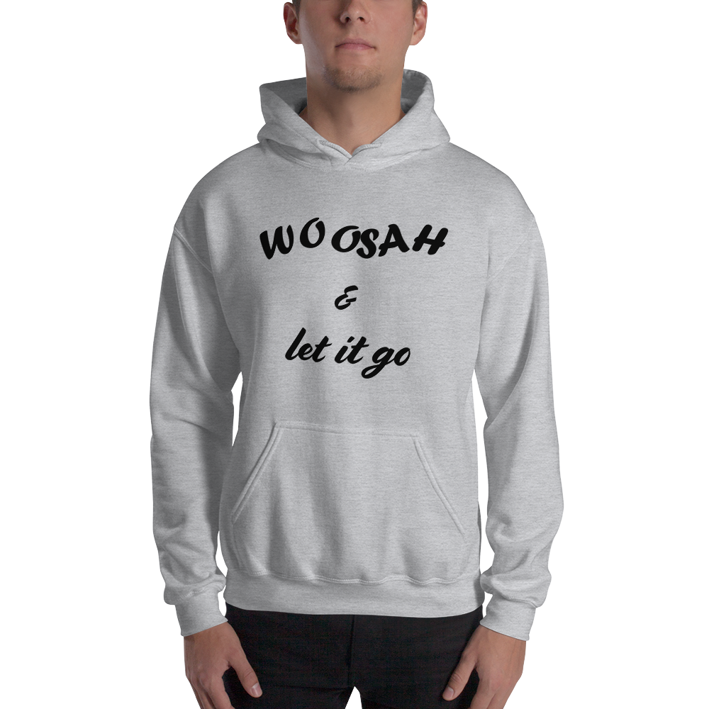 Unisex Hooded Sweatshirt w/ Black Print