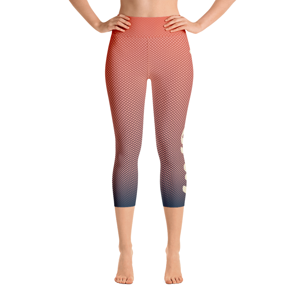 -Cotton Candy- Yoga Capri Leggings