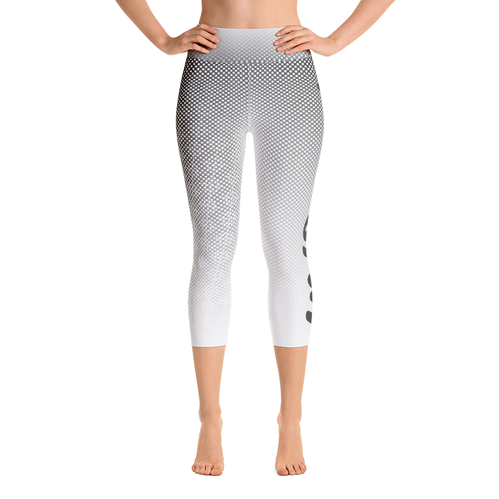 -Grey Scale- Yoga Capri Leggings