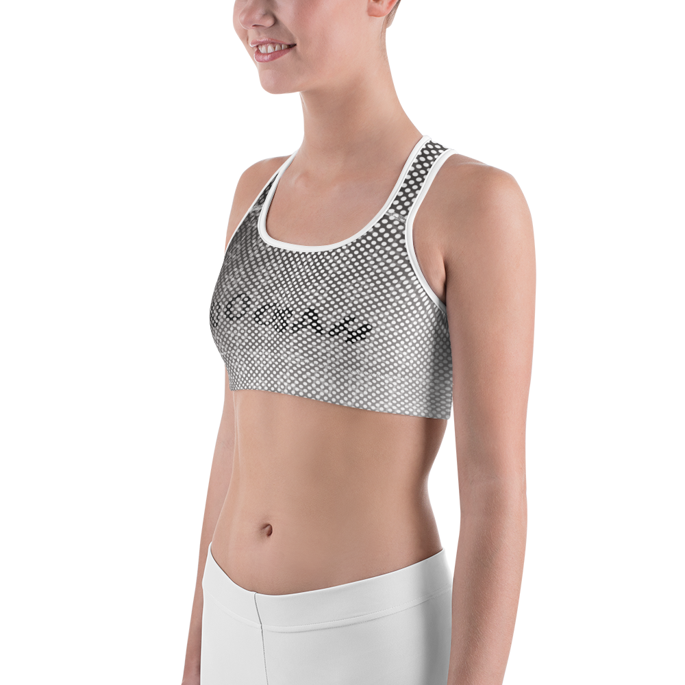 -Grey Scale- Sports Bra
