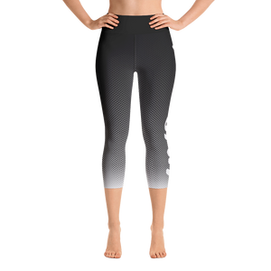 -Pitch-Blak- Yoga Capri Leggings