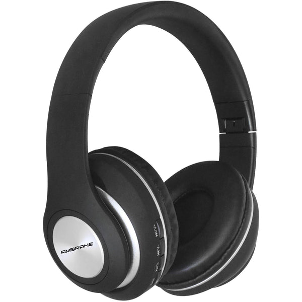 WH-83 Over The Ear Bluetooth Headphones with Wireless FM, Aux & SD Card Support (Black) - AmbraneIndia
