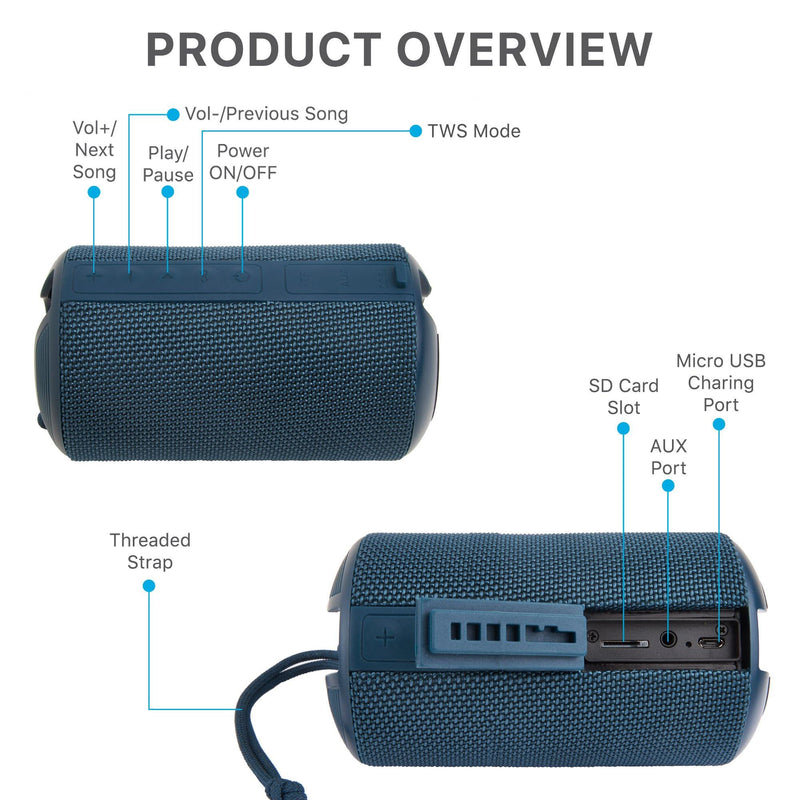 Ambrane BT-83 (10 Watt Portable Bluetooth Speaker) - Blue
