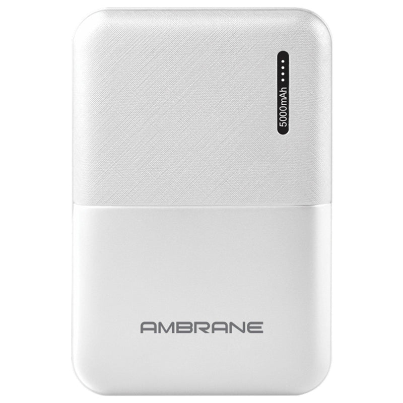 Capsule 5K (5000 mAh) Lithium Polymer Power Bank (White)