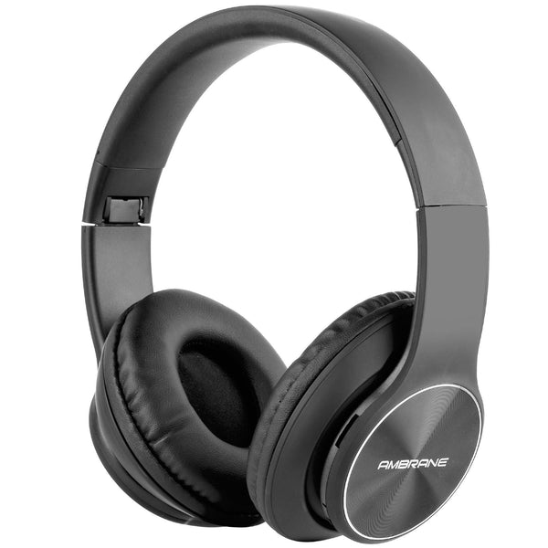 WH-74 Over The Ear Wireless Headphones With Mic & FM (Black)