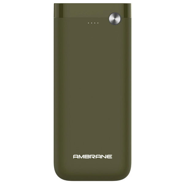 PP-20 20000 mAh Li-Polymer Powerbank with Dual Micro/ Type-C Input Fast Charging for Smartphone, Smart Watches, Neckbands & Other Devices, Made In India(Green) - Ambrane India Pvt Ltd