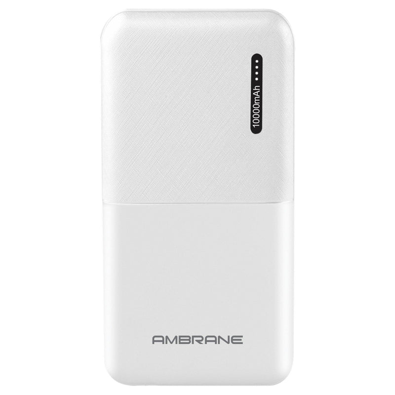 Capsule 10K (10000 mAh) Li-Polymer Powerbank with Compact Size & Fast Charging for Smartphone, Smart Watches, Neckbands & Other Devices, Made In India (White)