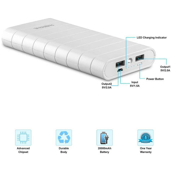 Speedy S8 20000 mAh Power Bank - AmbraneIndia