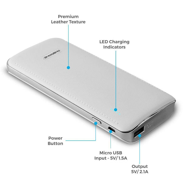 Ambrane Power Bank P-1600 (16750 mAh) Grey - AmbraneIndia
