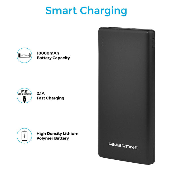 PP-125 10,000 mAh Lithium Polymer Power Bank (Black)